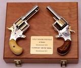 Colt House Pistols, 1st model Cloverleaf & 2nd Model, Cased Pair, Restored