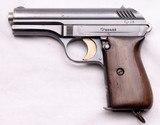 Czech, Vz24 Army Pistol Marked CZ 28, .380 ACP, c.1929