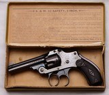 "S&W, New Departure, Safety Hammerless .32 Revolver, BLUE, 3"" Barrel, w/Box, ANTIQUE"