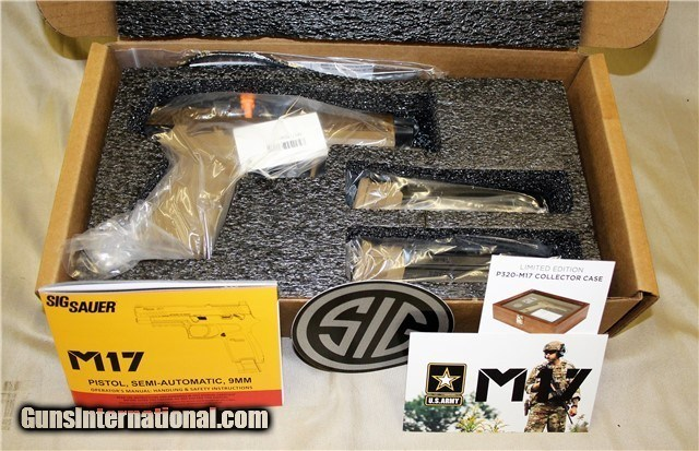 Sig Sauer M17 Commemorative P320 9mm coyote tan NEW LIMITED