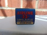 1937 Federal Airline 22 long rifle xcess speed lead lubricated cartridges - 4 of 15