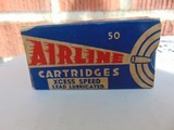 1937 Federal Airline 22 long rifle xcess speed lead lubricated cartridges