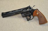 """Colt Python 6"""" blue with box, papers"""