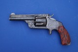 Smith and Wesson 38 2nd Model SA Revolver w/Red Marbled Grips (Not Baby Russian)