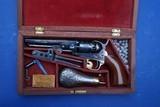 Colt Model 1849 Pocket Revolver w/Hartford Address and Cased, Not SAA - 1 of 20