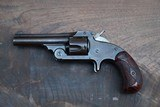 Smith and Wesson Model 1 1/2 .32 SA Blued with Scarce Red + Black Marbled Grips