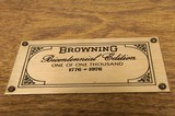 Browning B-78 Bicentennial 1 of 1000 .45-70 w/case knife, coin Never Fired. Gorgeous Wood!