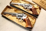 """Consecutive Serial; Pair SMITH & WESSON 66-1 .357 6"""" in Blue boxes - 3 of 7"""