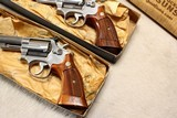 """Consecutive Serial; Pair SMITH & WESSON 66-1 .357 6"""" in Blue boxes - 4 of 7"""