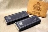 """consecutive serial; pair smith & wesson 66-1 .357 6"""" in blue boxes"""