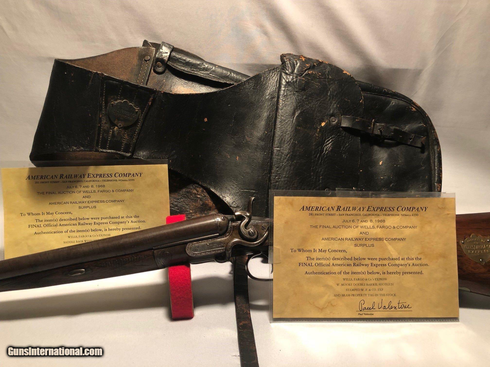 Wells Fargo Company Marked Shot Saddle Bags