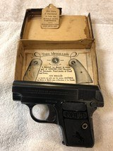 Colt 1908 Vest Pocket Hammerless .25 ACP Complete With Original Box & Hanging Tag
