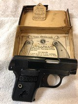 Colt 1908 Vest Pocket Hammerless .25 ACP Complete With Original Box & Hanging Tag - 2 of 5