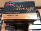 PMC 223 55 Grain FMJ BT Brass Case - Non Corosive - 2900 FPS - Packaged 20 Rounds Per Box
