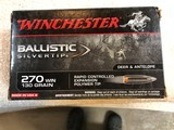 winchester 270 130 grain bilistic polymer silver tip - packaged 20 rounds per box
