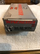 winchester 30-30 170 grainpoweer point - packaged 20 rounds per box