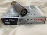 """federal10 ga 31/2"""" rifled slugs"""