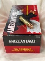 federal american eagle 30 m 1 carbine 110 grain fmj
