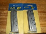 2 1911 Colt Brand Magazines for Commander and Gold Cup