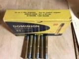 43 Mauser 385 Grain Dominion Brand