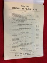 Westley Richards and Holland and HollandSales Literature - 11 of 12