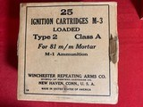 Winchester 81mm Mortar Ignition Cartridges