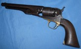 Antique ORIGINAL 1860 COLT ARMY REVOLVER INSPECTORS MARKS & CARTOUCH 1862 WAR USED