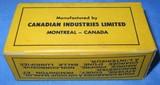 * Vintage AMMO CANUCK 25 STEVENS RIMFIRE RF SHORT FULL BOX NOS - 3 of 5
