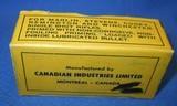 * Vintage AMMO CANUCK 25 STEVENS RIMFIRE RF SHORT FULL BOX NOS - 5 of 5
