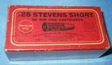 * Vintage AMMO REMINGTON UMC 25 STEVENSRIMFIRE RF SHORT BLACK POWDER FULL BOX - 2 of 4