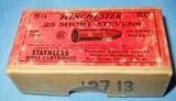 * Vintage AMMO WINCHESTER 25 RIMFIRE RF SHORT STEVENS FULL BOX - 4 of 5