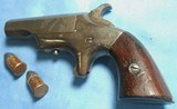* Antique 1870 SOUTHERNER DERRINGER BROWN 41 RF