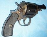 * Antique 1890s BLUE & CASE COLOR .320 CF BULLDOG REVOLVER DIEUDONNE DEROUXTAY - 2 of 15
