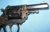 * Antique 1890s BLUE & CASE COLOR .320 CF BULLDOG REVOLVER DIEUDONNE DEROUXTAY - 7 of 15