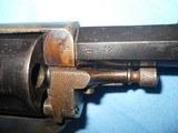 * Antique 1890s BLUE & CASE COLOR .320 CF BULLDOG REVOLVER DIEUDONNE DEROUXTAY - 12 of 15