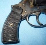 * Antique 1890s BLUE & CASE COLOR .320 CF BULLDOG REVOLVER DIEUDONNE DEROUXTAY - 14 of 15