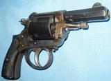 * Antique 1890s BLUE & CASE COLOR .320 CF BULLDOG REVOLVER DIEUDONNE DEROUXTAY - 4 of 15