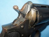 * Antique 1890s BLUE & CASE COLOR .320 CF BULLDOG REVOLVER DIEUDONNE DEROUXTAY - 5 of 15