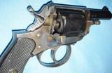 * Antique 1890s BLUE & CASE COLOR .320 CF BULLDOG REVOLVER DIEUDONNE DEROUXTAY - 3 of 15