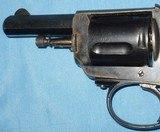 * Antique 1890s BLUE & CASE COLOR .320 CF BULLDOG REVOLVER DIEUDONNE DEROUXTAY - 11 of 15