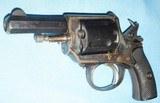 * Antique 1890s BLUE & CASE COLOR .320 CF BULLDOG REVOLVER DIEUDONNE DEROUXTAY - 9 of 15