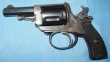 * Antique 1890s BLUE & CASE COLOR .320 CF BULLDOG REVOLVER DIEUDONNE DEROUXTAY - 8 of 15