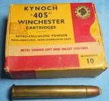 * Vintage KYNOCH 405 WINCHESTER AMMO FULL BOX NOS