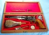 * 1860 UBERTI REPLICA ARMS CASED COLT ARMY 44 REVOLVER & ACCESSORIES
