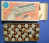 * Vintage AMMO NAVY ARMS .41 RF RIMFIRE NICKLE & COPPER FULL BOX