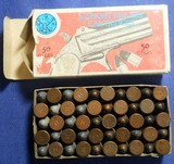 * Vintage AMMO NAVY ARMS 41 RF RIMFIRE COPPER & LEAD FULL BOX