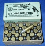 Vintage AMMO 32 RF RIMFIRE NAVY ARMS FULL BOX 50