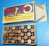Vintage AMMO WESTERN .32 RF RIMFIRE FULL BOX
