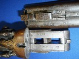 * Antique T. BAKER DOUBLE SxS .410 HAMMER SHOTGUN - 18 of 19