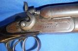 * Antique T. BAKER DOUBLE SxS .410 HAMMER SHOTGUN - 5 of 19